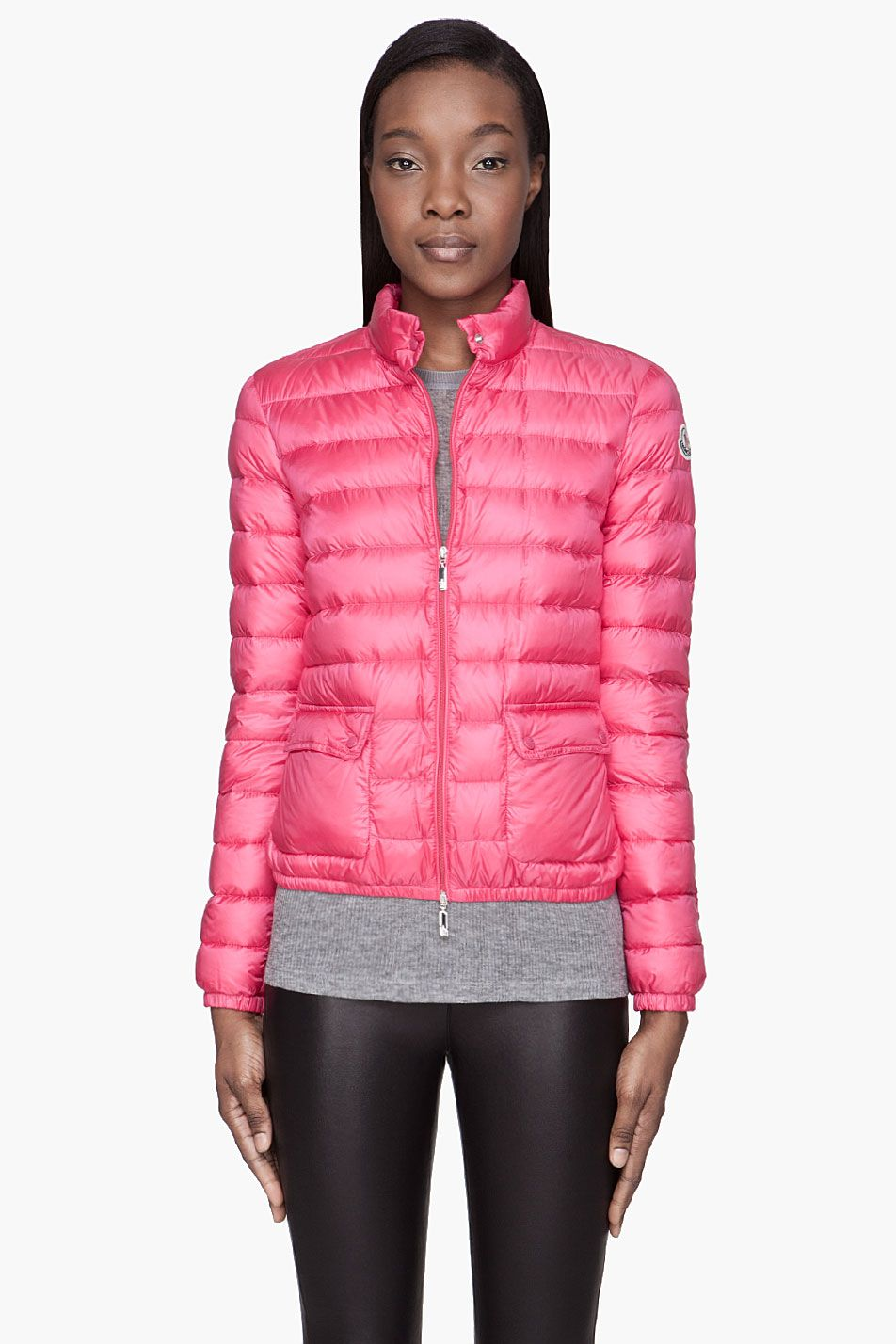 cdf4b7e98150 Moncler Fuchsia Pink Quilted Down Lans Jacket - Moncler Fuchsia Pink ...