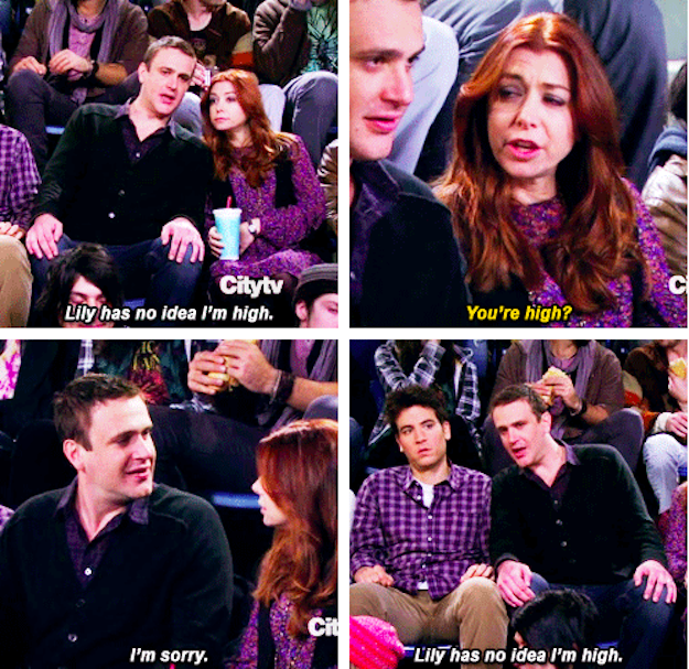 When He Got High With Ted And Tried To Hide It From Lily Marshall Eriksens Best  Quotes On How I Met Your Mother