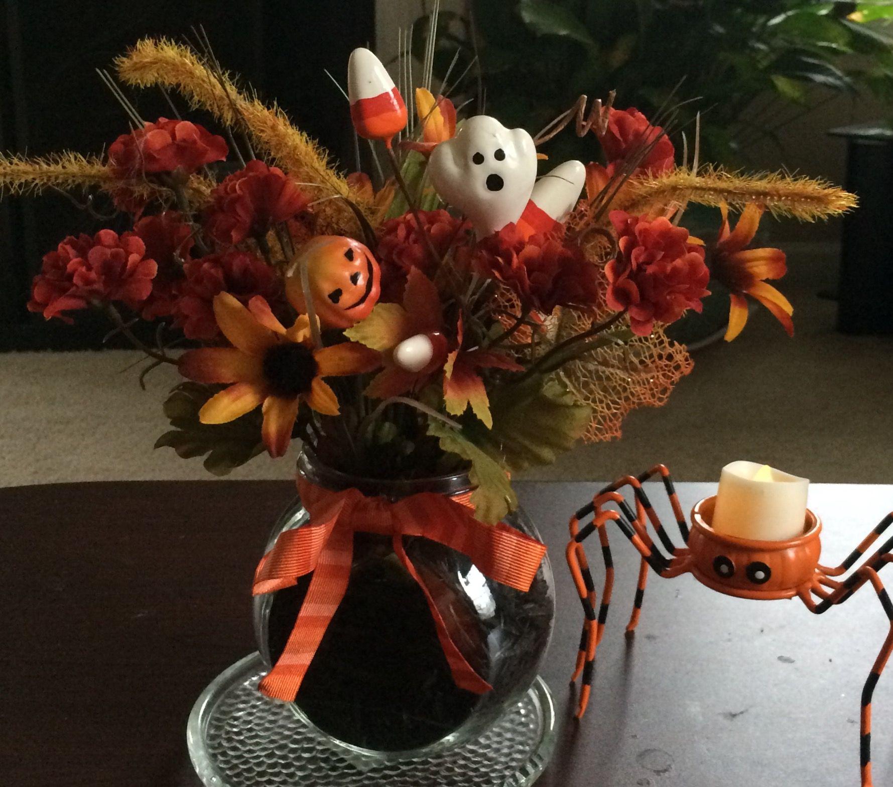Alwaysadornable fall halloween floral arrangements centerpieces by alwaysadornable fall halloween floral arrangements izmirmasajfo Choice Image