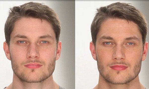 Mens makeup camouflage transvestites