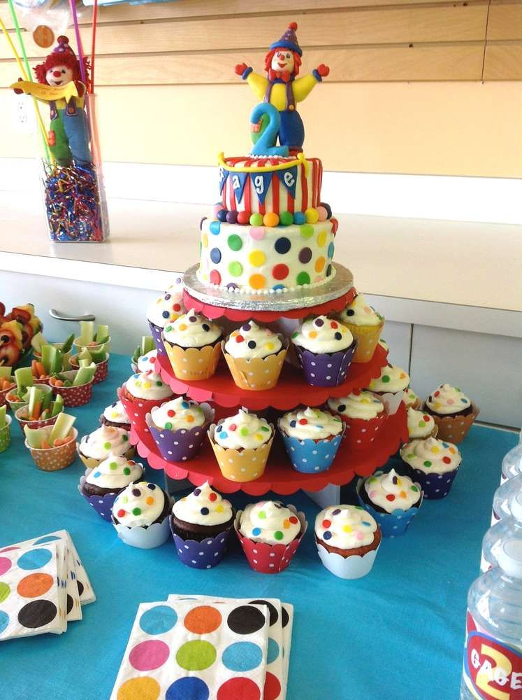 Rainbow Art Clown Birthday Party Ideas
