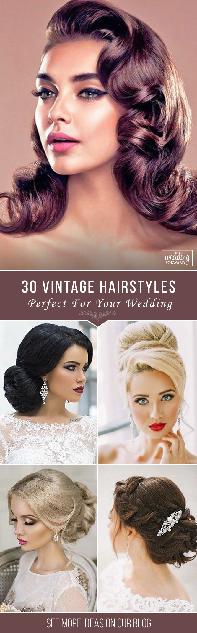 36 Always Feminine Vintage Wedding Hairstyles | Wedding Forward