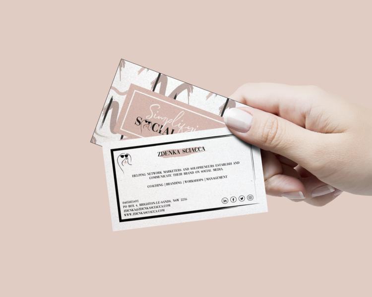Brand Design For Simplifying Social Media Business Cards Creative Social Media Business Cards Business Cards Creative Unique Business Cards