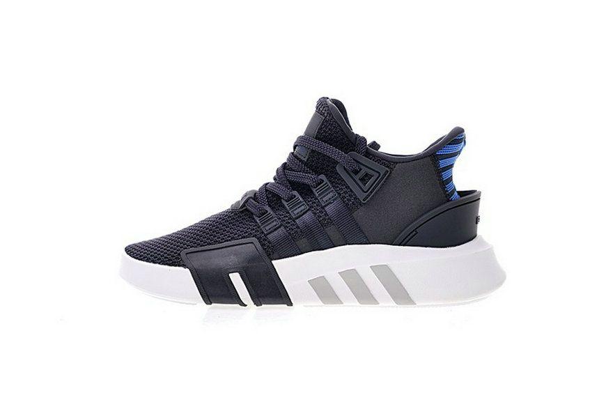 Adidas EQT Basket Adv Dark Grey Blue White Knit Athletic Cq2994 casual  shoes ventilated Shoe b9af1fe5a