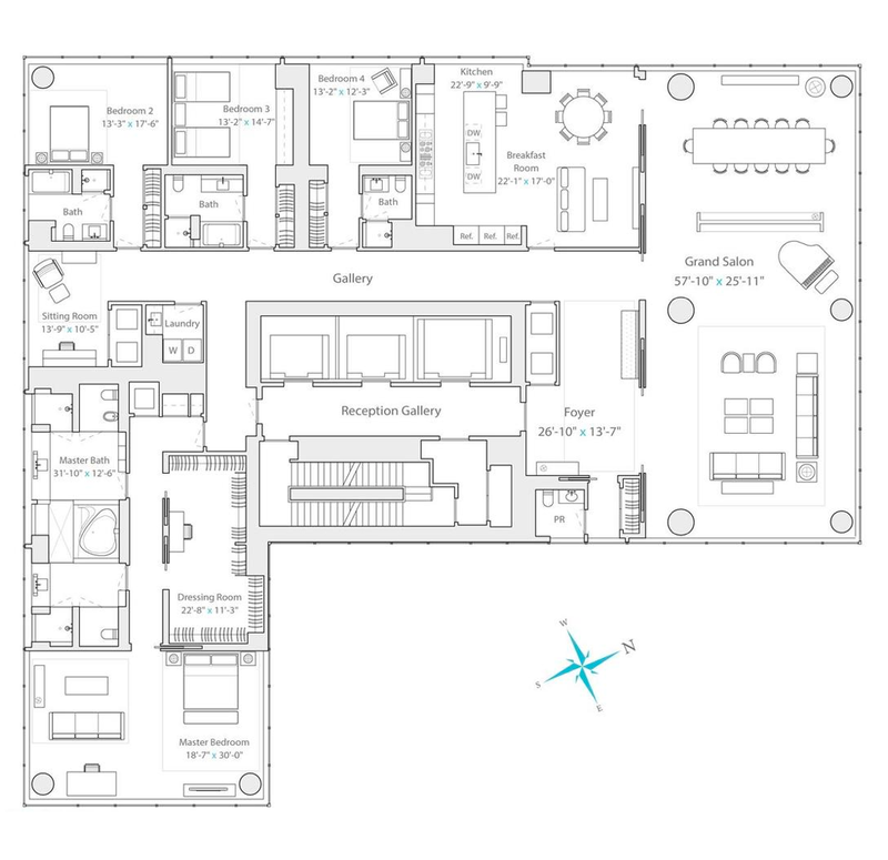 157 West 57th Street, Residence 77   HOMES, Palaces, Pool's ...  Bedroom House Designs Expen on