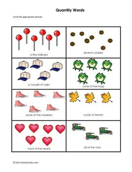 Quantity Word worksheet | Projects to try | Pinterest | Worksheets ...
