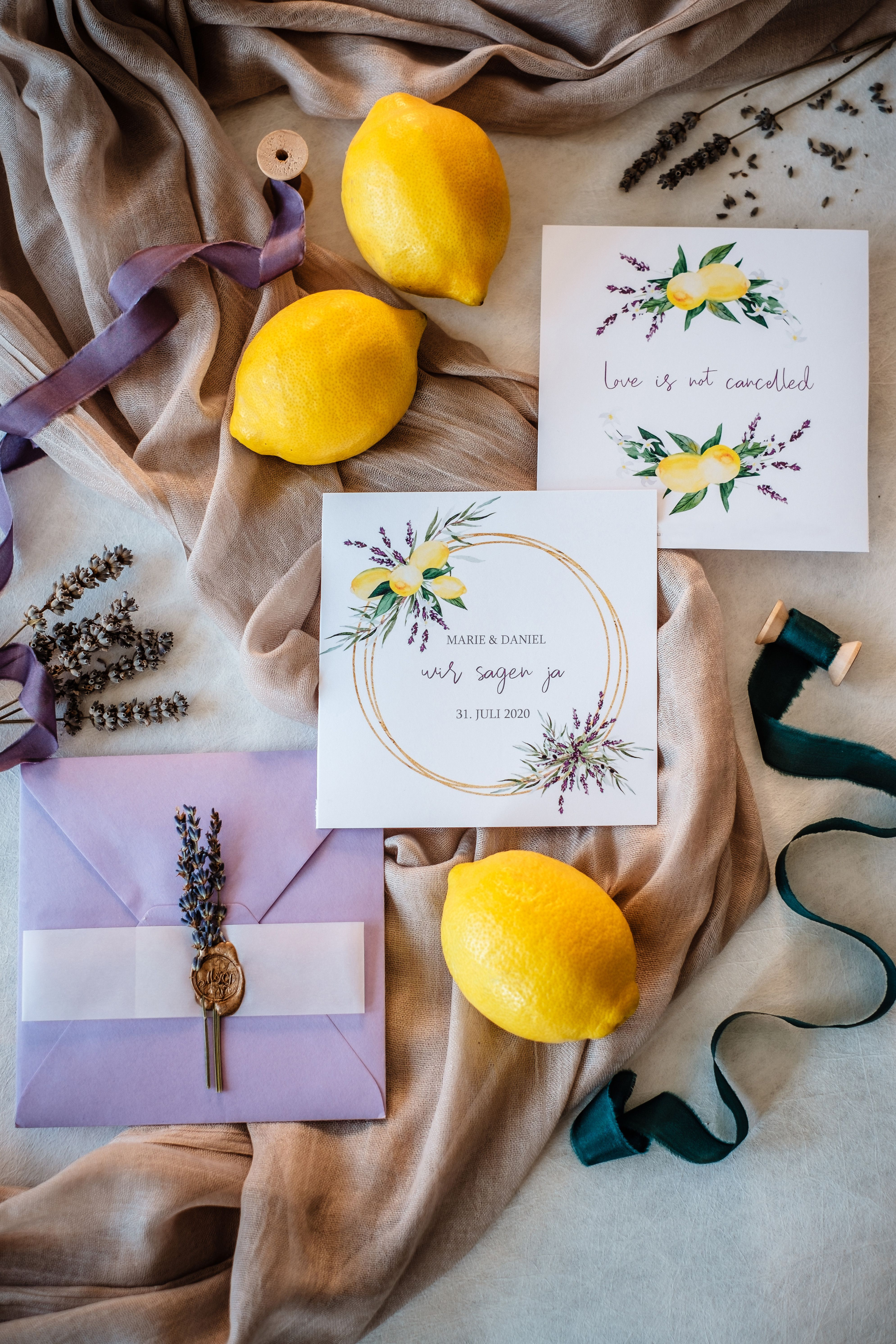 Einladung Hochzeit Mediterran