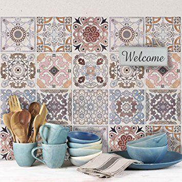 Carrelage Adhésif X Cm PS Carrara Adhésive - Stickers carrelage cuisine 15x15 pour idees de deco de cuisine