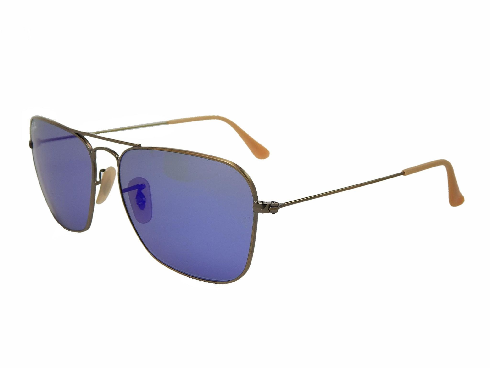 Ray Ban Caravan RB3136 167 68 Bronze  Blue Mirror 58mm Sunglasses ... 63496687d7