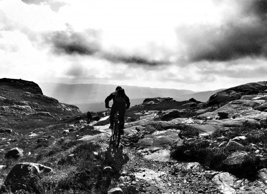 Mountain Biking in the Highlands of Scotland. Freeride