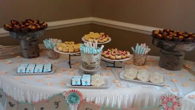 Dessert table for Amanda's wedding.