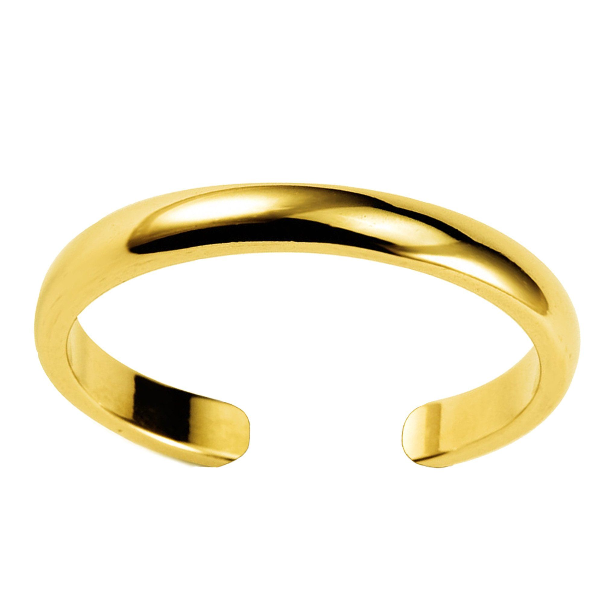 14k Solid White Gold Swirl Toe Ring Body Art Adjustable