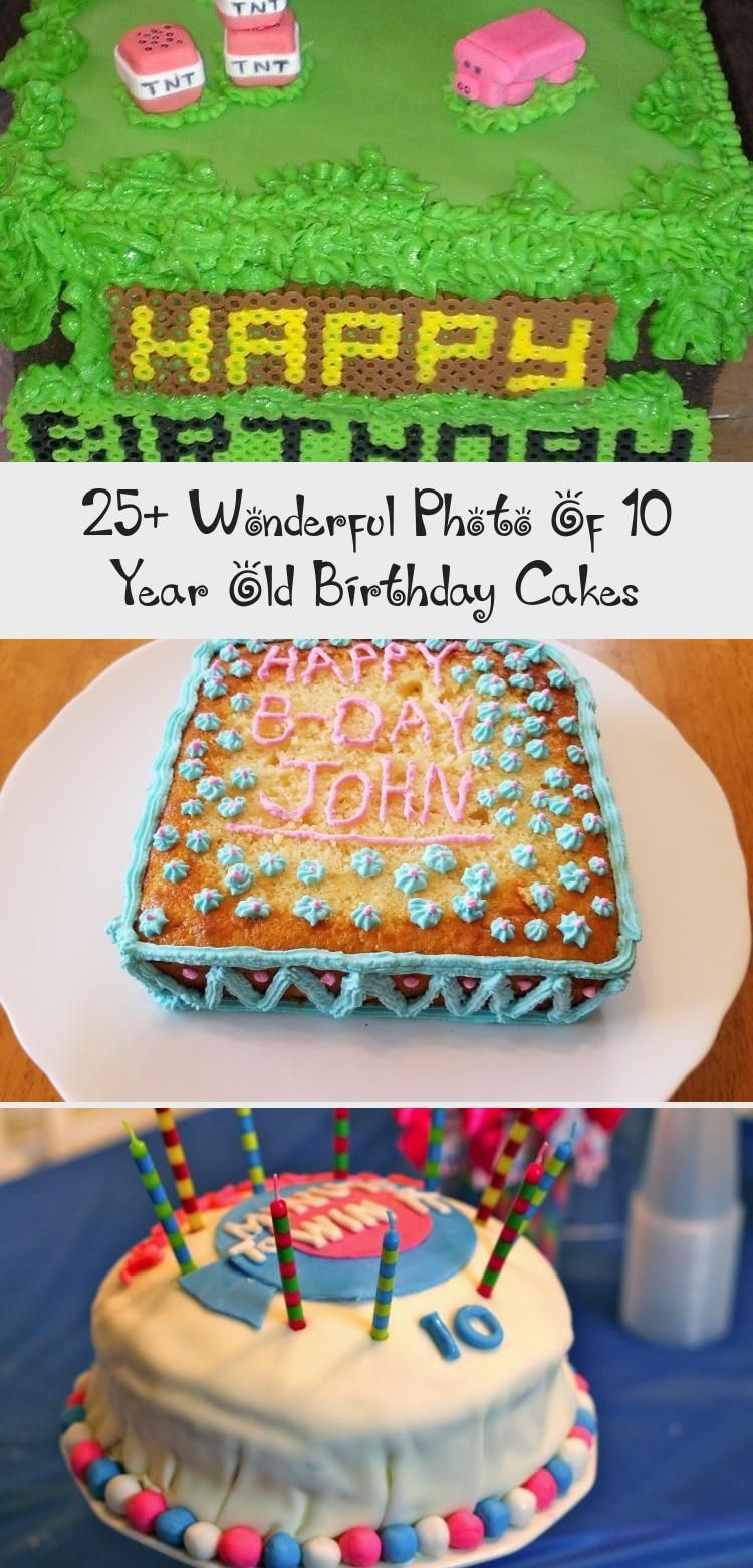 25 Wonderful Photo Of 10 Year Old Birthday Cakes 10 Year Old Birthday Cakes C 25 Wonder In 2020 10 Birthday Cake Cool Birthday Cakes Little Girl Birthday Cakes