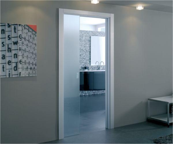 Bathroom Pocket Door Frosted Glass