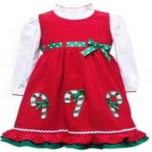54979cc7d Vestidos para bebes de navidad 7
