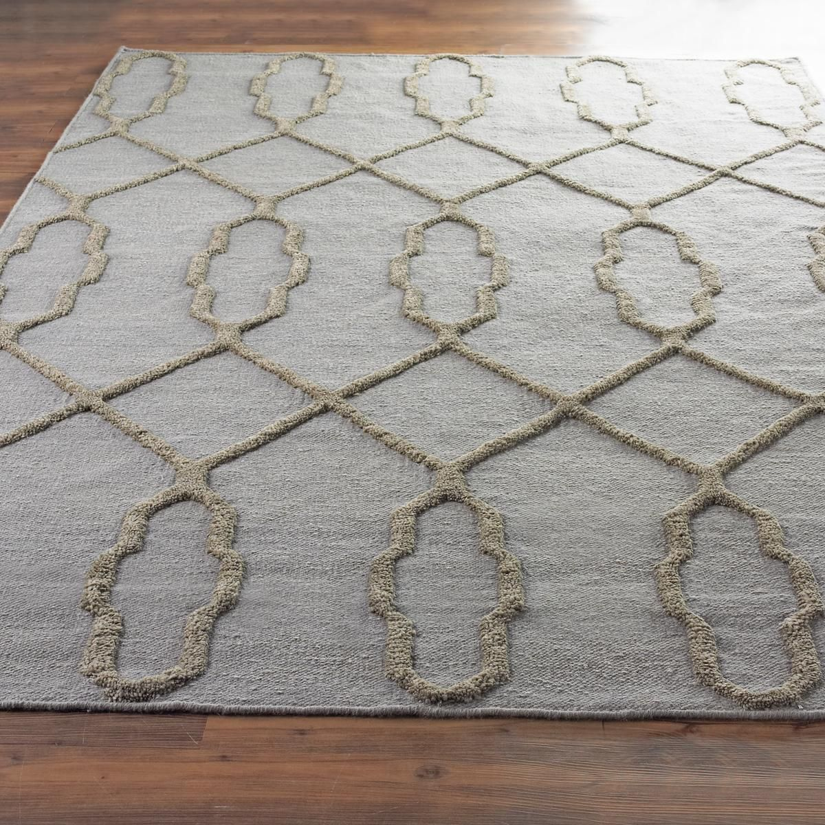 French Quarter Trellis Neutral Flatweave Rug