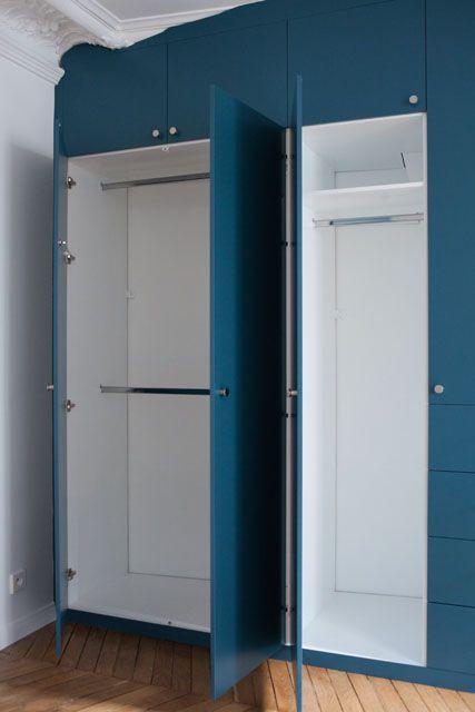 Dressing Bleu Fredfabric Avec Images Dressing Chambre Placard Chambre