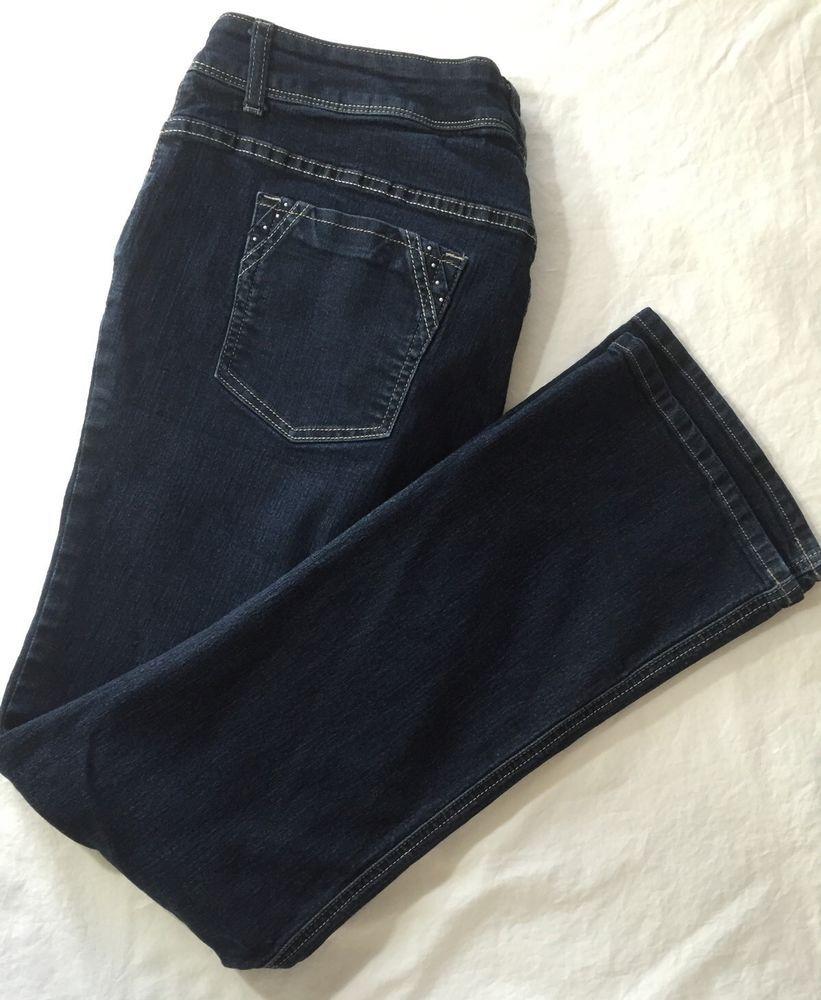 095c4daa344f1 Denim Jeans 18W M Riders By Lee Stretch Dark Blue Plus Size Jeans Womens   Lee  BootCut