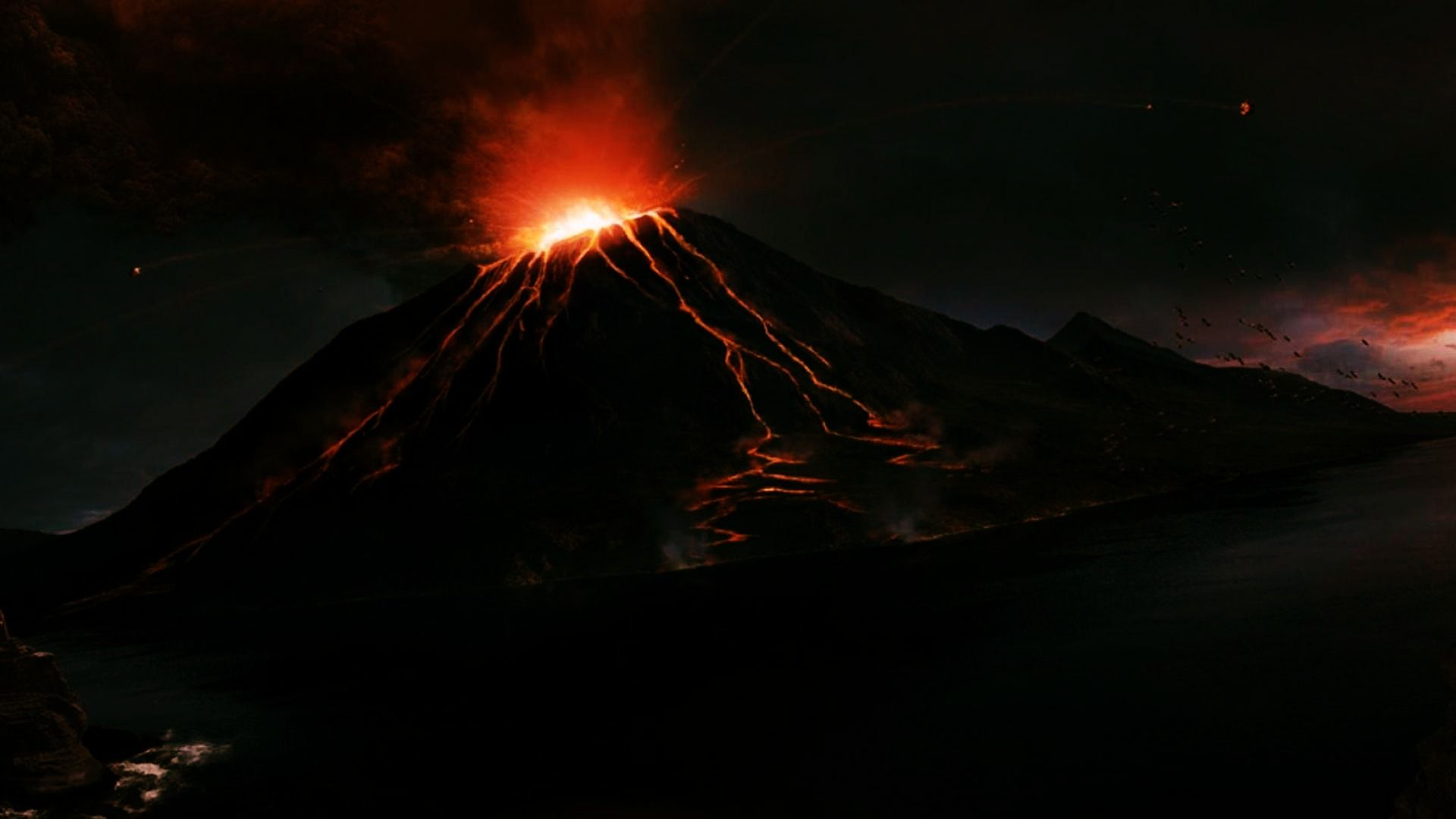 Mount Nyiragongo Night Volcano Wallpaper 1920x1080 Need IPhone 6S Plus Background For IPhone6SPlus Follow 3Wallpapers