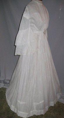 CA 1860's Civil War Era Victorian White Cotton Dress SM | eBay-cute, but I don't think i would do white:)