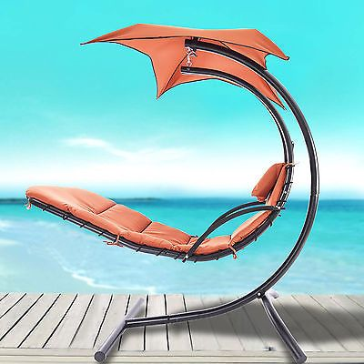 Hanging Chaise Lounger Chair Arc Stand Air Porch Swing Hammock Canopy Orange https://t.co/YyDKZW4Y7w https://t.co/1t793EMz4i