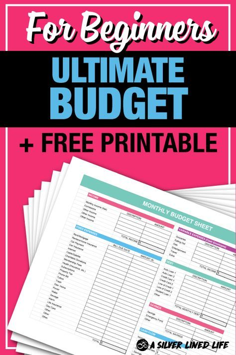 Budget + FREE Printable, For Beginners Dave ramsey, Frugal living