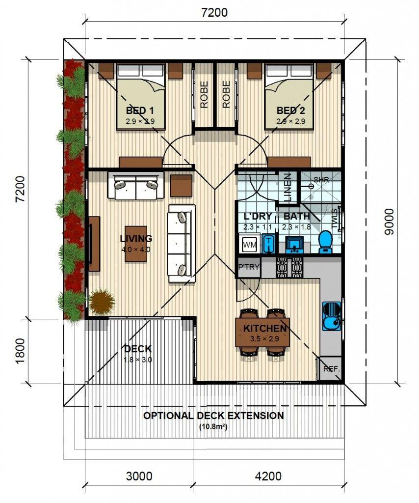 Granny Flats Kensington Budget House Plans Small House Design Plans Small House Plans