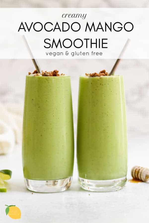 Creamy Avocado Mango Smoothie Eat With Clarity Recipe In 2020 Mango Smoothie Recipes Mango Smoothie Mango Avocado Smoothie