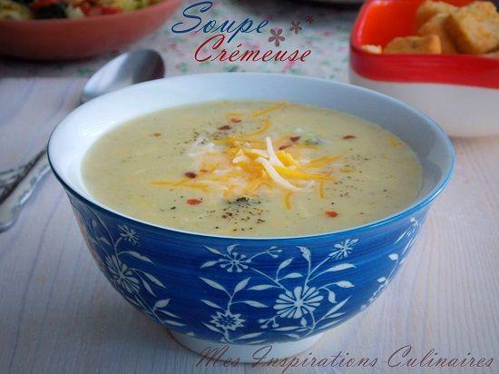 Soupe crémeuse aux pommes de terre et brocoli