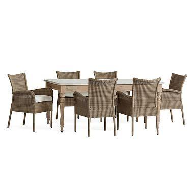 Calistoga Dining Table Georgia AllWeather Wicker Dining Chairs - All weather outdoor dining table