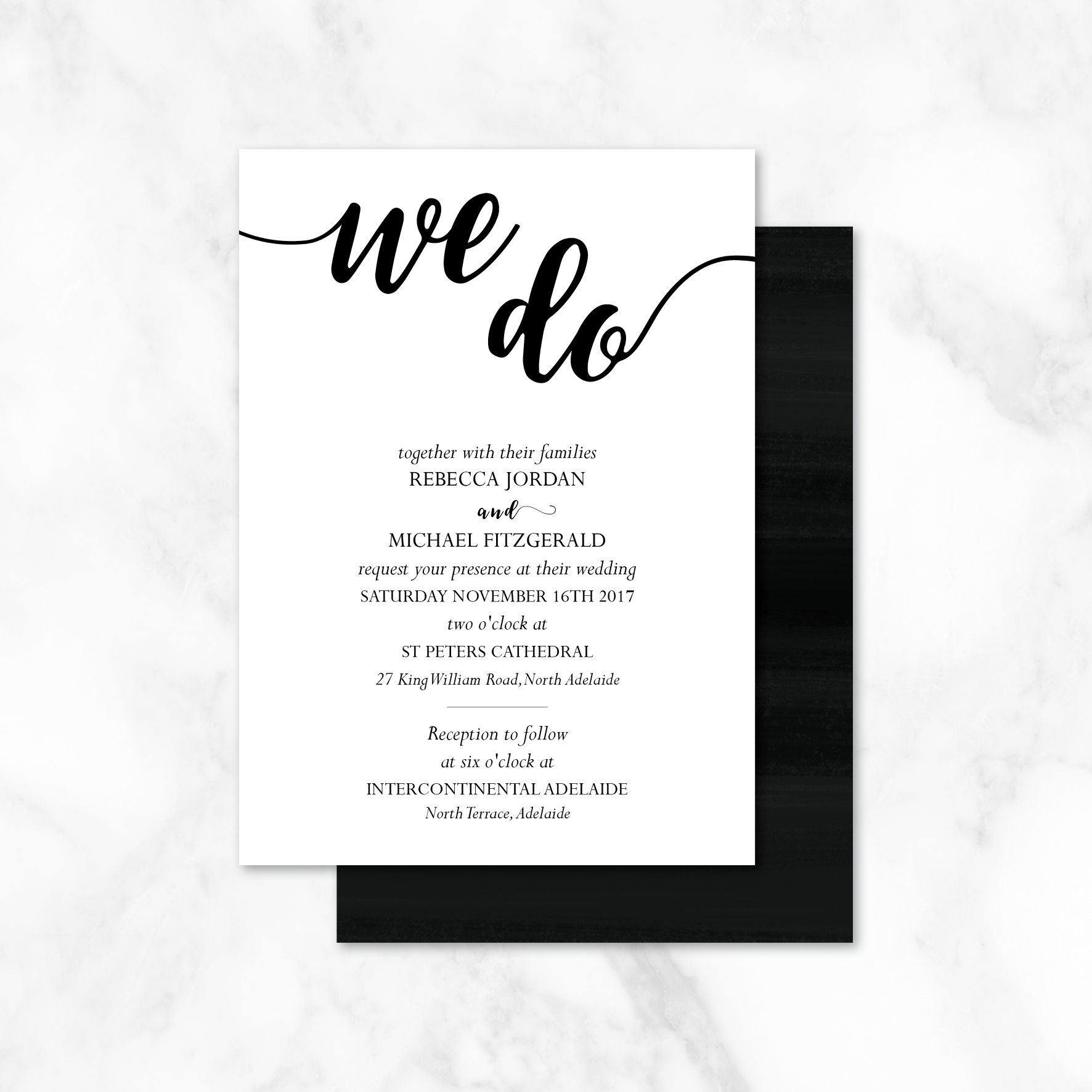 Check it out! We Do Wedding Invitations - This invitation has some ...
