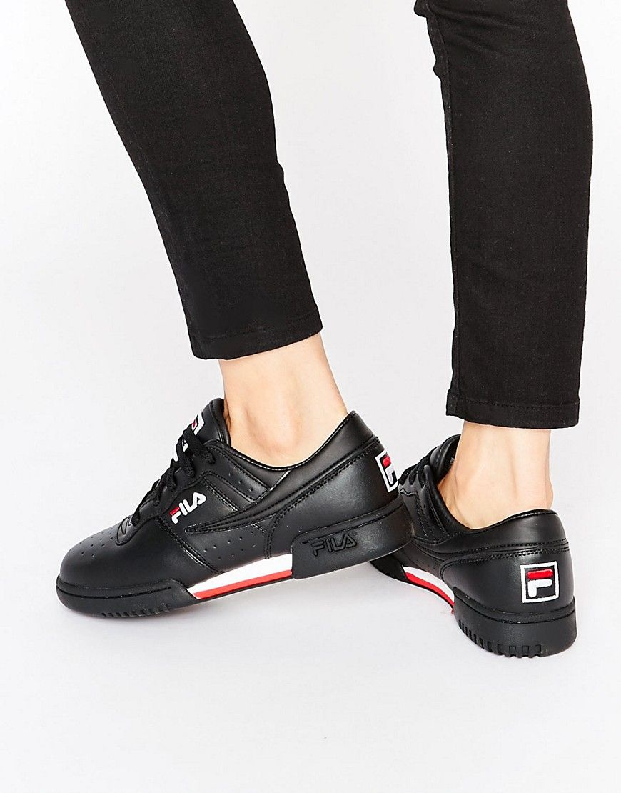 huge selection of 19647 ccb90 Fila Original Fitness Trainers In Black
