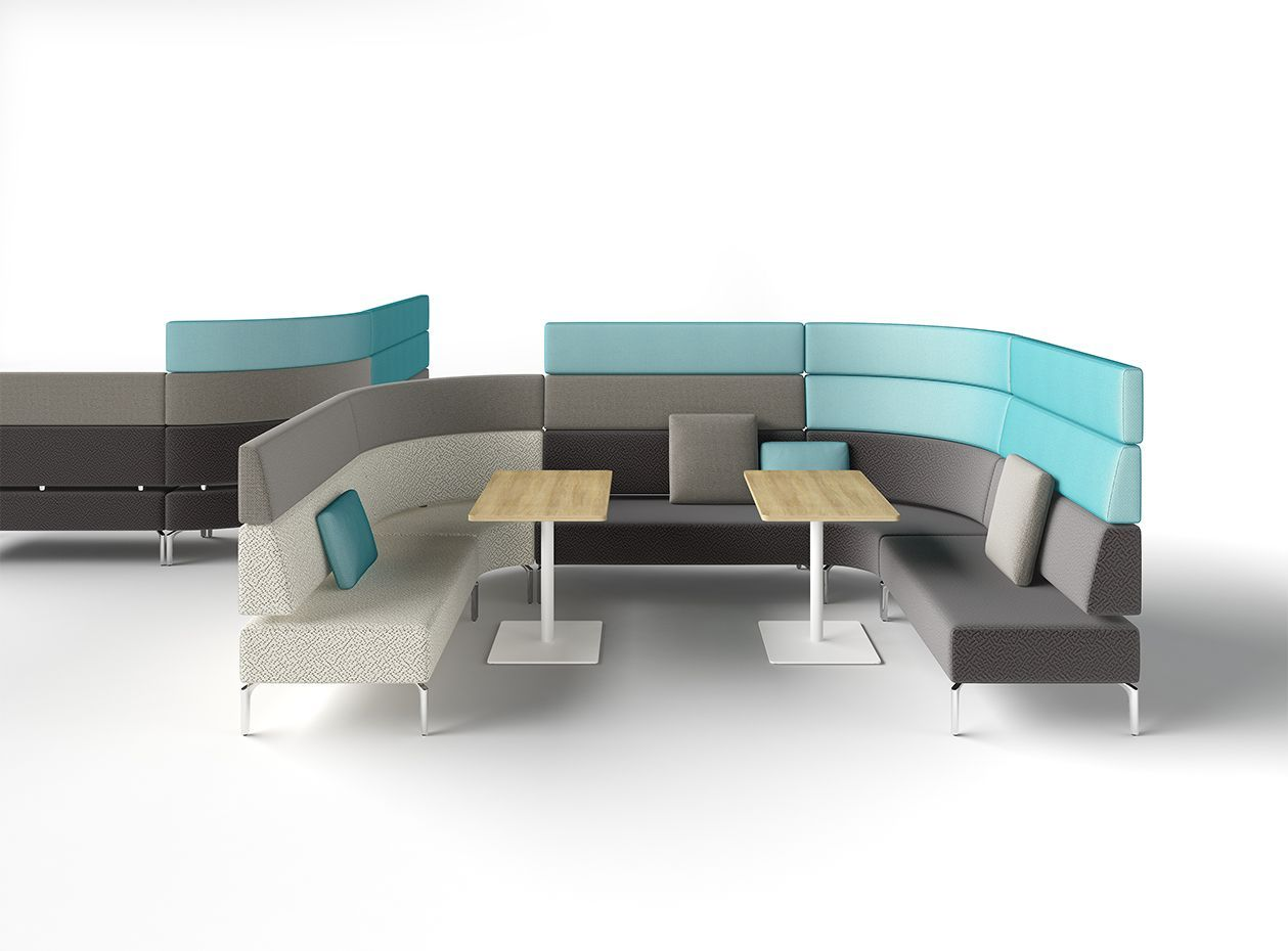 Zenith interiors mobius modular lounge schamburg alvisse modular lounges lounge modular - Mur incontri silence altek italia design ...