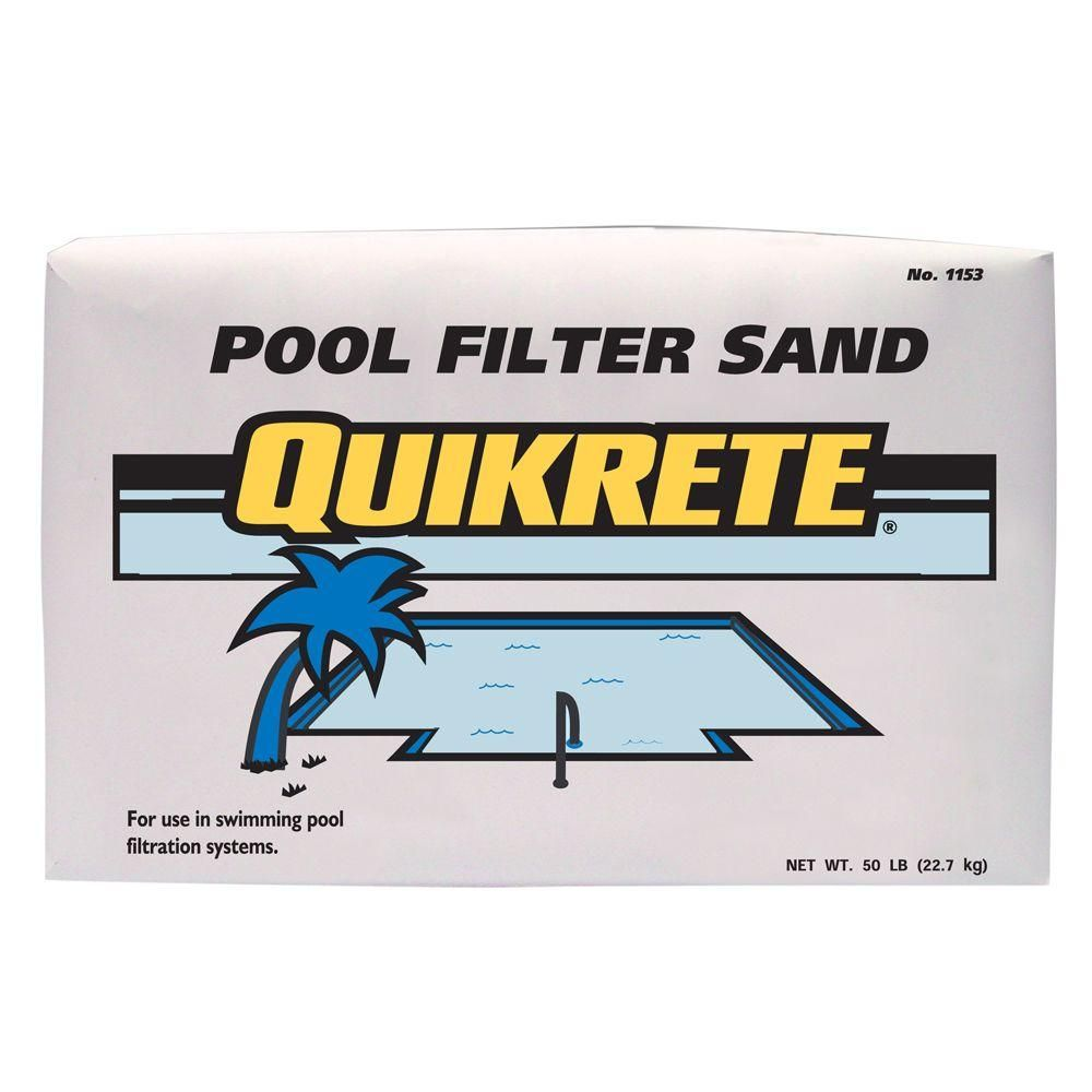 Quikrete 50 Lb Pool Filter Sand 115350 The Home Depot Pool Filter Sand Swimming Pool Filters Pool Sand