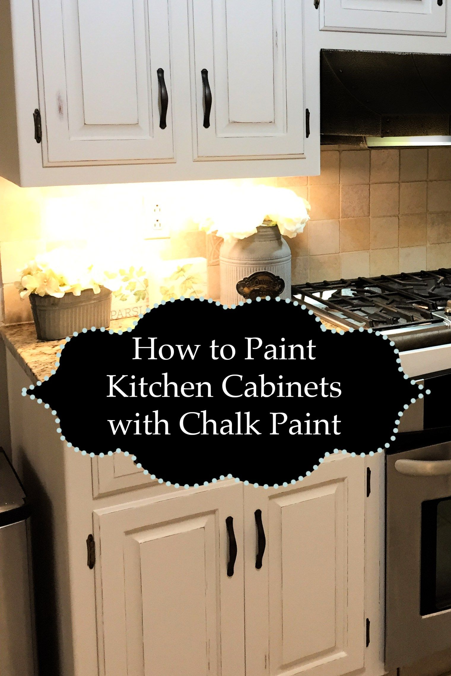 Ideas for painting kitchen cabinets  Painting Kitchen Cabinets With Chalk Paint  The Kelly Homestead