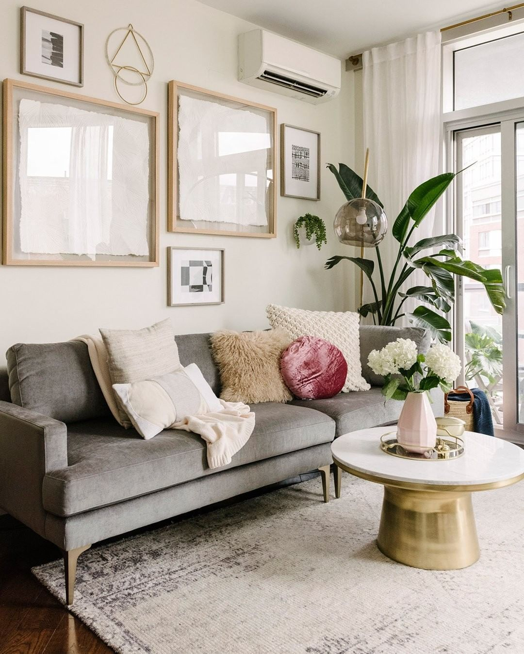 """Small Nyc Apartment Living Room Ideas: Furniture + Decor On Instagram: """"A Triangular"""