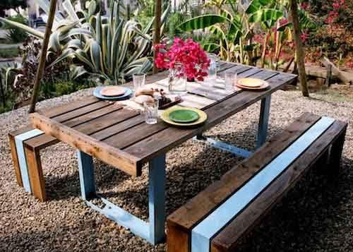 Tavolo Per Esterno Fai Da Te.Banco Da Giardino Fai Da Te Pesquisa Google Tavolo Giardino