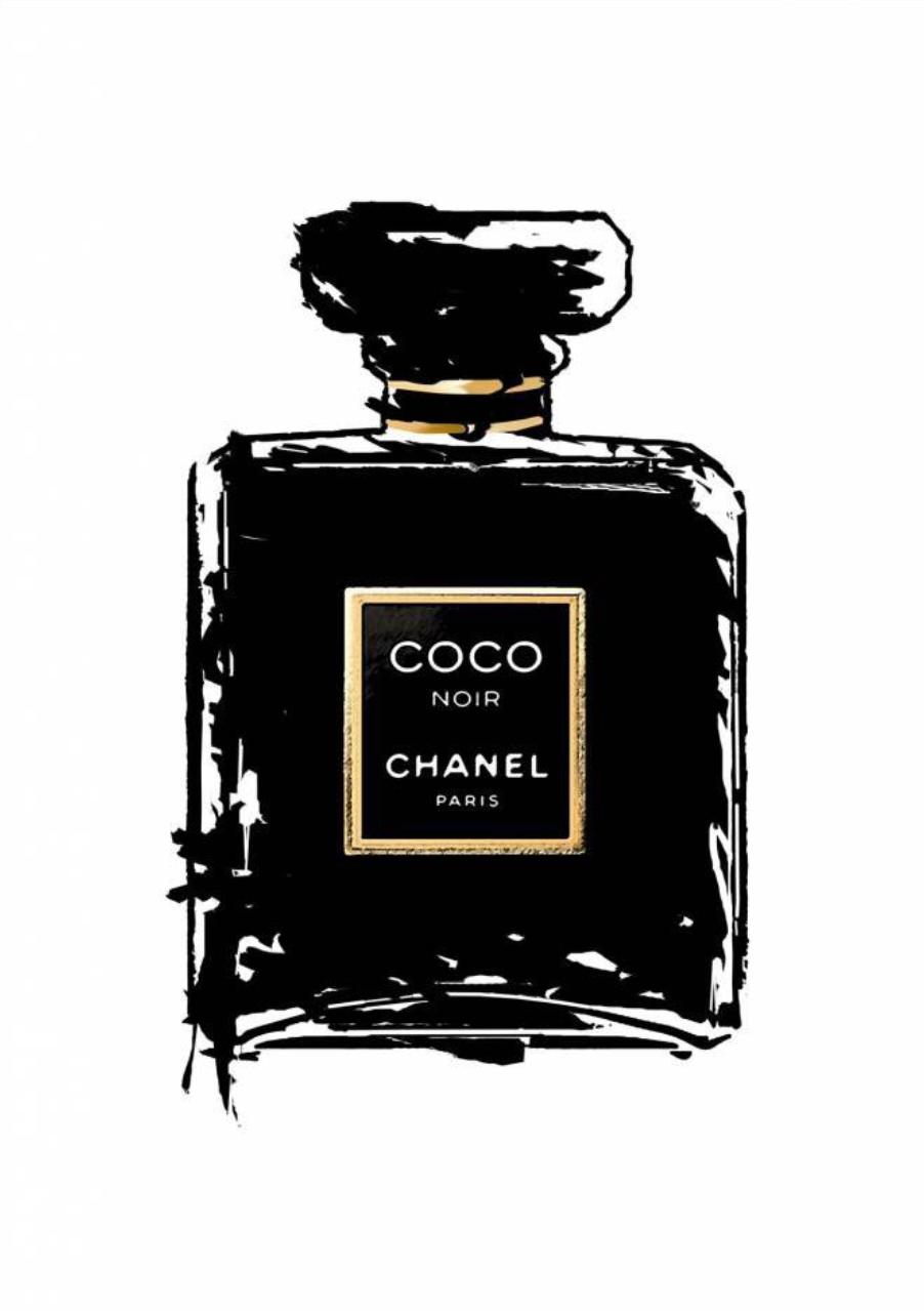 Poster   Affiche - Chanel Coco Noir  5731865e80