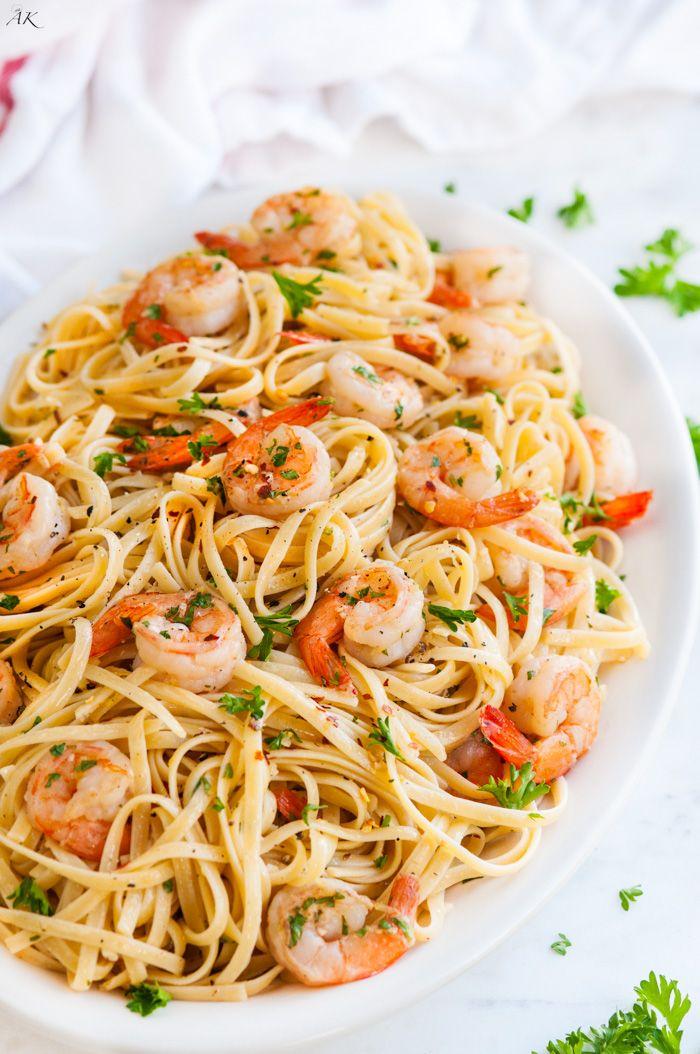 Shrimp Scampi Linguini #shrimpscampi