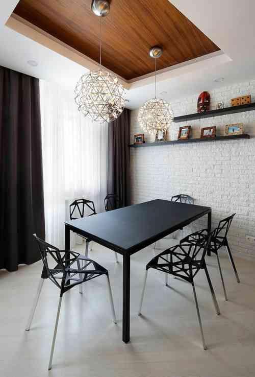 Déco salle à manger avec mur brique  50 idées originales Stone