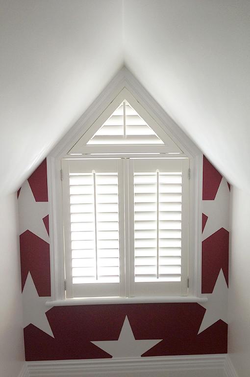 Odd Shape Shutters Blinds for windows living rooms