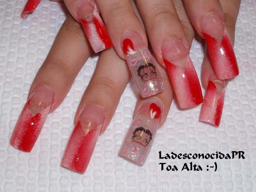Betty Boop Nail Art Archive Style Nails Magazine Betty Boop