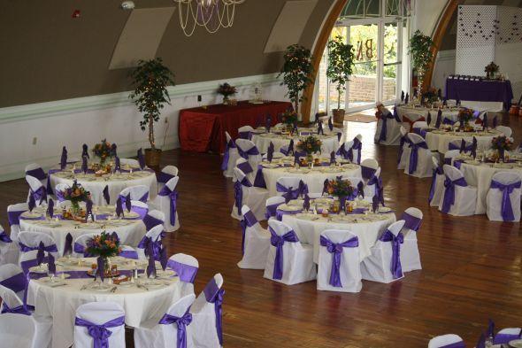 Purple And Orange Wedding Reception