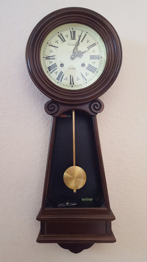 vintage antique 35 day centurion tall chiming wall clock on wall clocks id=91076