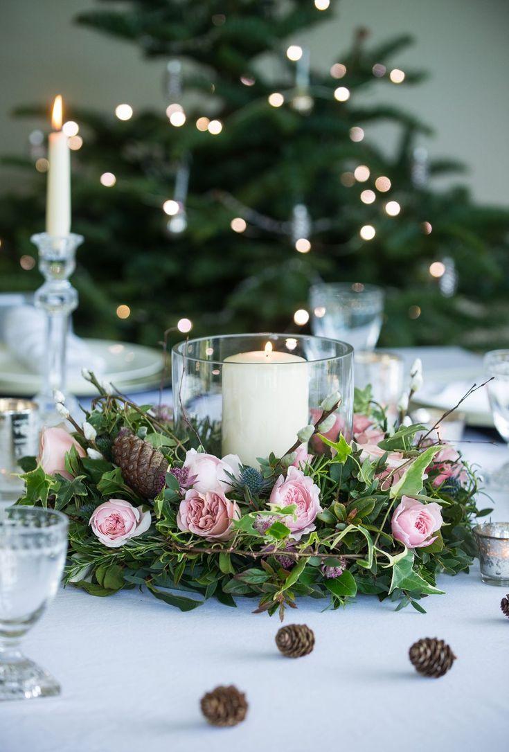 Christmas flower arrangements simple rustic DIY ideas to