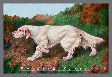 Typical English Setter 12x18 Giclee on canvas