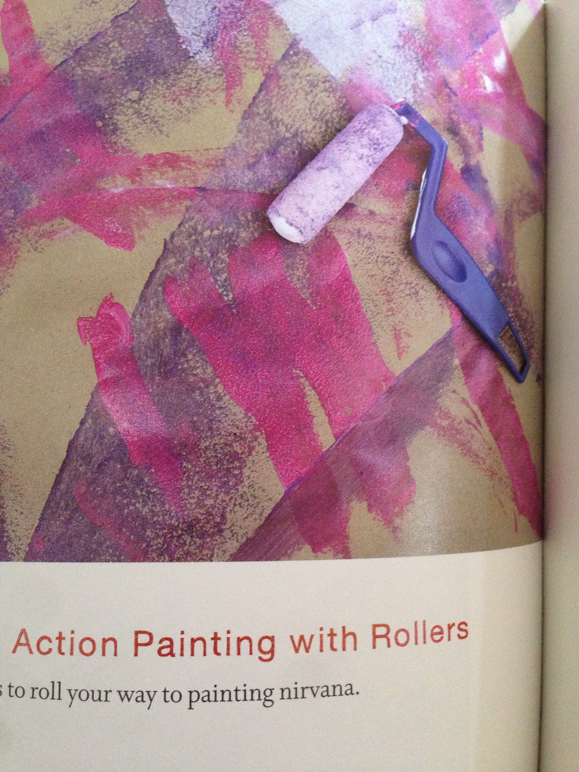 Action Painting With Mini Rollers