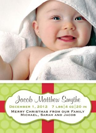 Holiday Birth Announcement - Citrus Wrap - photoaffections.com