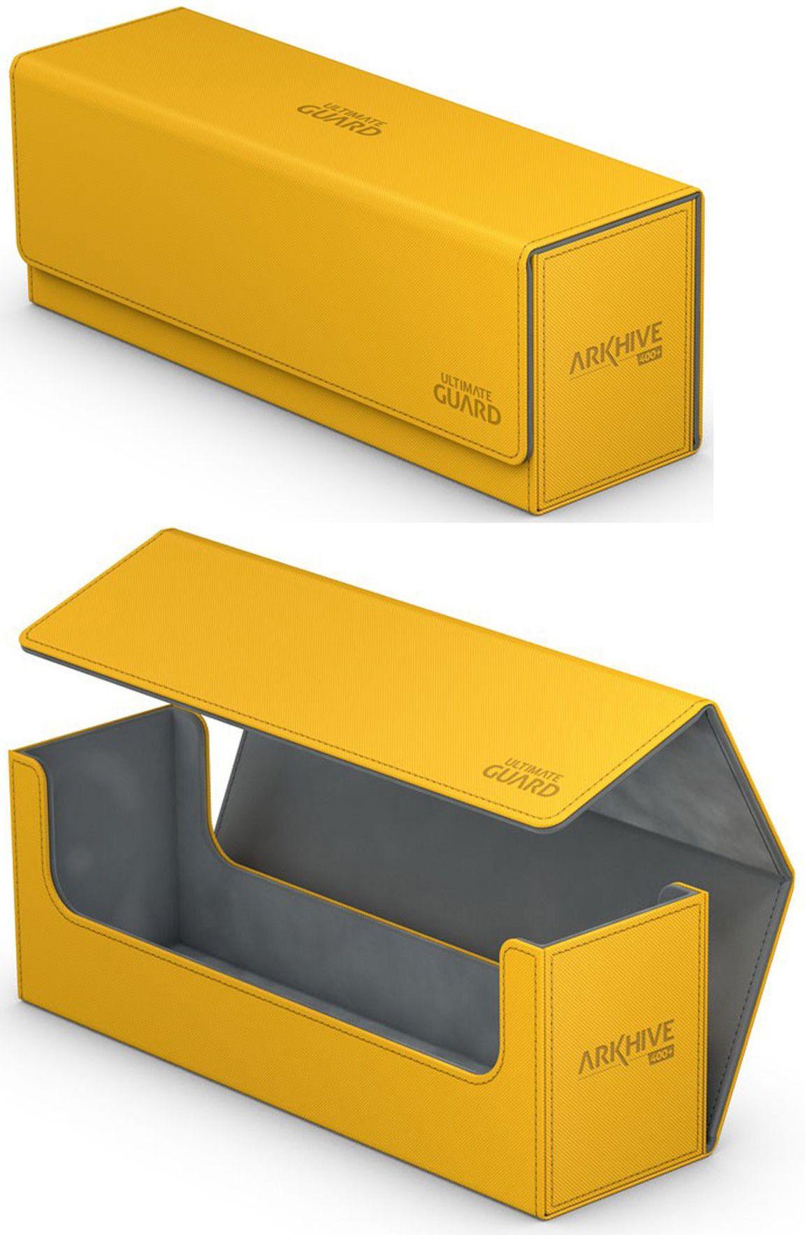 ULTIMATE GUARD ARKHIVE BLACK XENOSKIN FLIP 400 DECK CASE Card Storage Box MTG