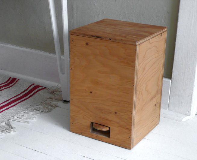 plastic free wooden pedal bin zero waste home pinterest. Black Bedroom Furniture Sets. Home Design Ideas